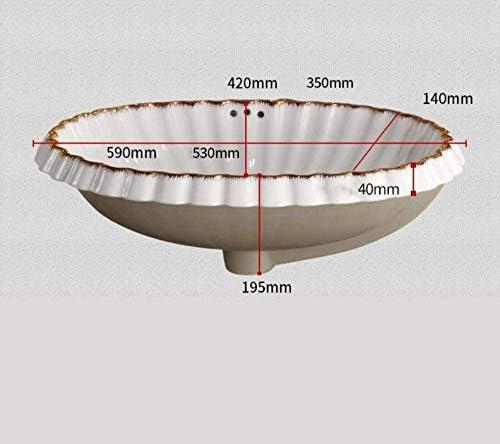 ZKS-KS 中国オーバルヴィンテージスタイル陶芸流域のシンクのカウンタートップ洗面浴室船シンク洗面化粧台洗面器とシンク