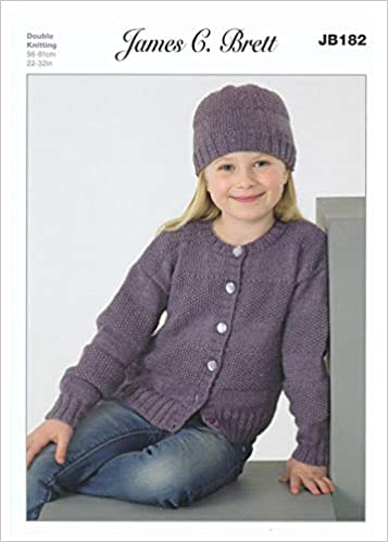 38cd50dd053bf James C Brett JB182 Knitting Pattern Girls Cardigans and Hats   Amazon.co.uk  Books
