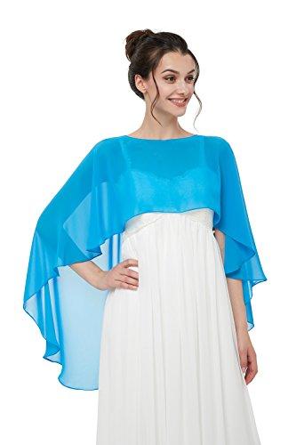 Hot Dresses Womens Chiffon Soft Shawl for Weddings Evening Wraps