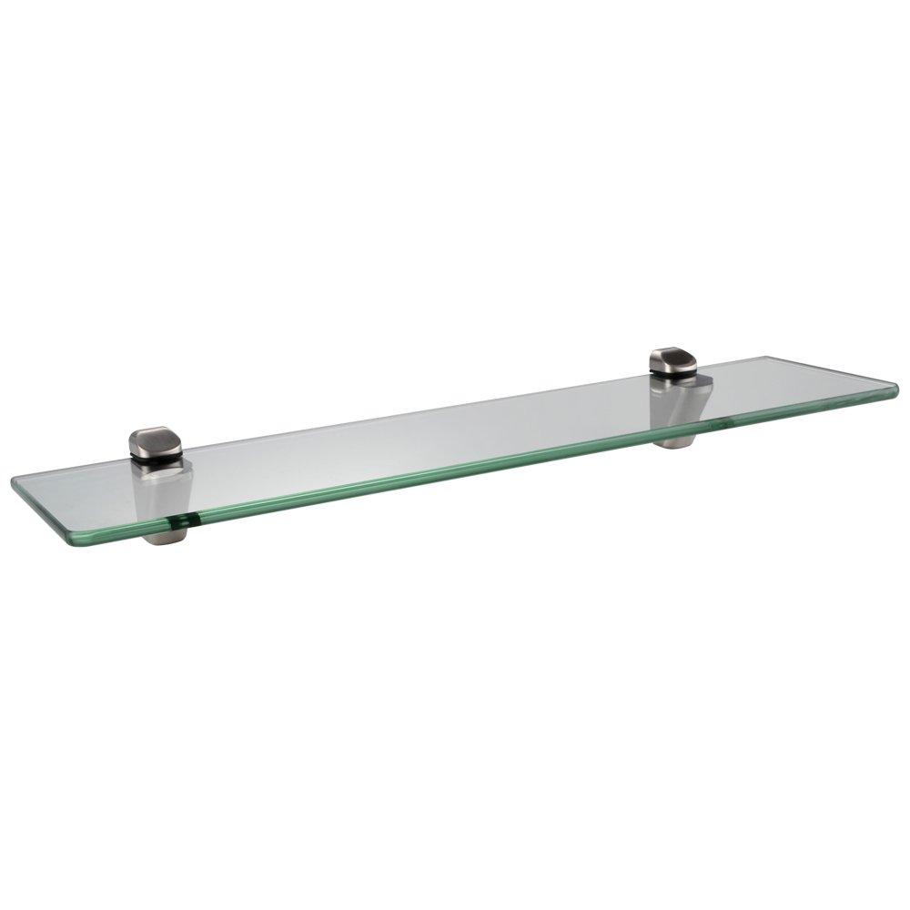 KES BGS3102-2 Lavatory Bathroom Corner Tempered Glass Shelf 8MM-Thick Wall Mount Triangular, Brushed Nickel KES Home (U.S.) Limited CECOMINOD006660