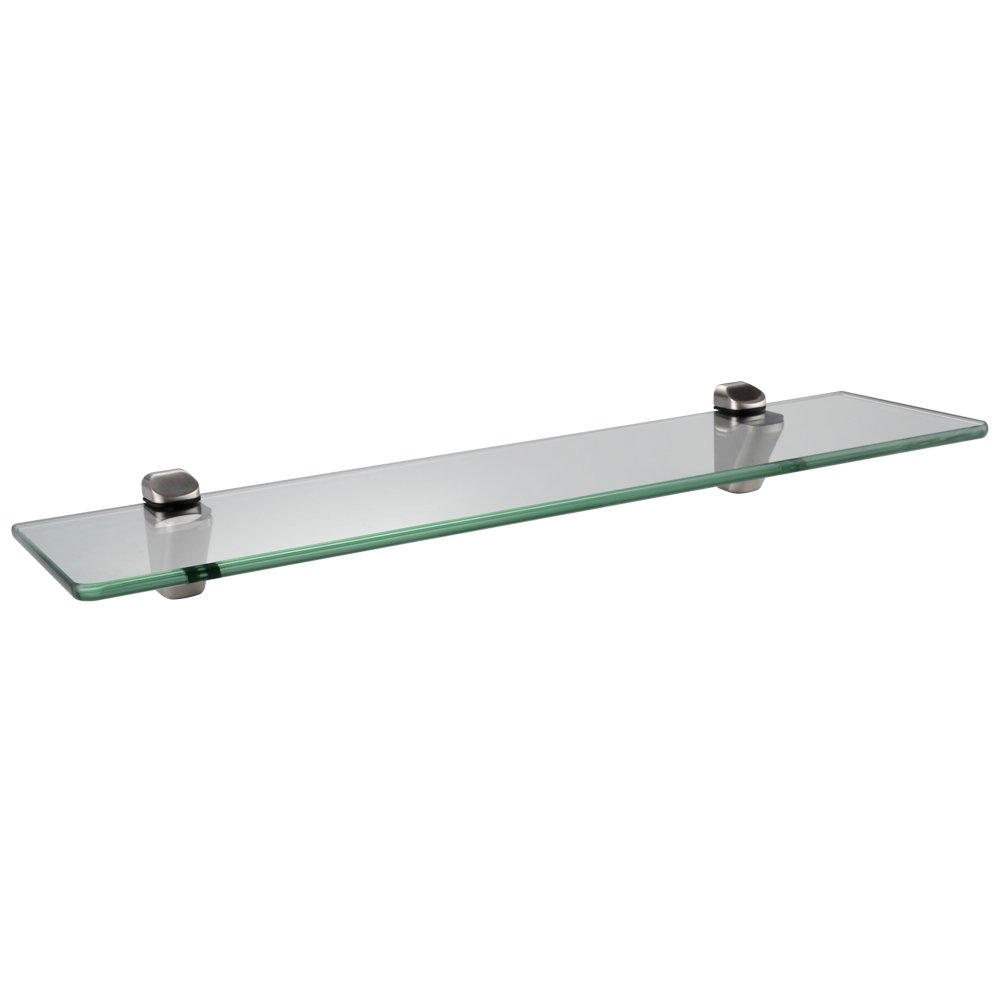 KES BGS3202-2 Lavatory Bathroom Corner Tempered Glass Shelf 8MM-Thick Wall Mount Rectangular, Brushed Nickel