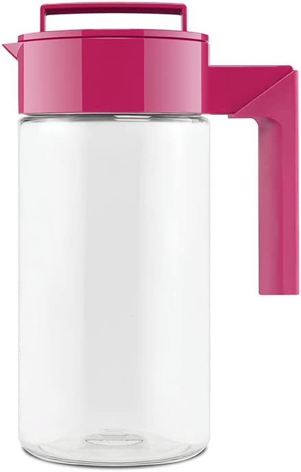 Takeya Patented and Airtight Pitcher Made in the USA, 1 Quart, Raspberry