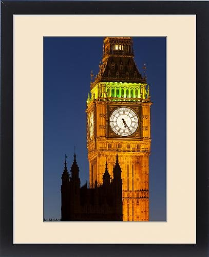 Framed Print of Big Ben Tower with buildings of House of Parliament, London England, UK by Fine Art Storehouse