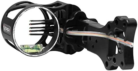 Viper Archery Venom XL, 5 Pin Compound Bow Sight, Lightweight Dependable Rugged CNC Aluminum, Stainless-Steel Hardware, 2nd and 3rd Axis Adjustments, Ultra-Bright Metal Pins – Made in USA