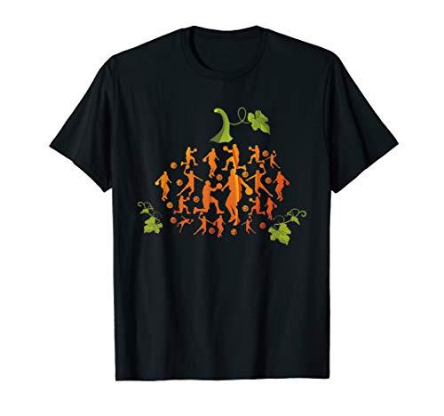 Cute Pumpkin Basketball Lovers TShirt Halloween Costume Gift -