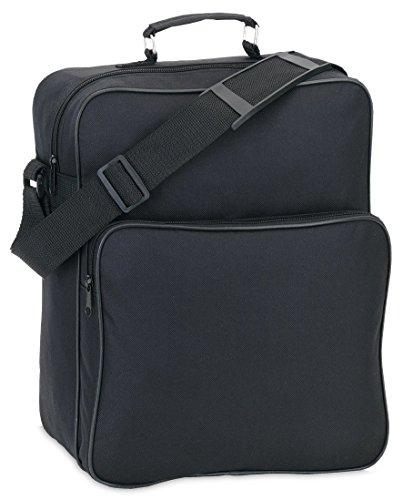 Umhängetasche Reisebegleiter Arbeitstasche Herrentasche Damentasche, schwarz, 28 x 34 x 14cm (Hoch)