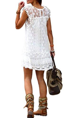 CRAVOG femmes sexy robe en dentelle soirée bal cocktail mini robe courte mode