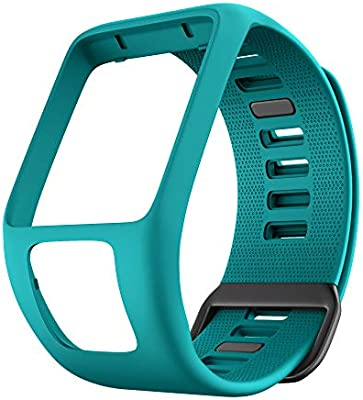 ANCOOL Compatible with Tomtom Spark 3 Watch Bands Silicone Watch Straps Replacement for Tomtom Runner 2 3,Spark 3,Golfer 2,Adventurer Smartwatches ...