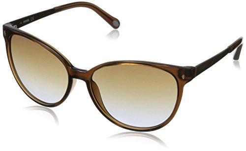 Fossil Women's FOS3007S Cateye Sunglasses,Transparent Brown,56 - Cat Fossil Eye Sunglasses