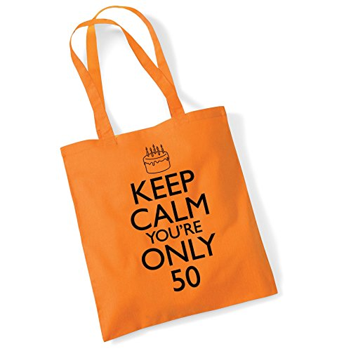Printed For Gifts Org Shopper Birthday Calm 50th Bag Women Bags Cotton Keep Tote aWq0g5