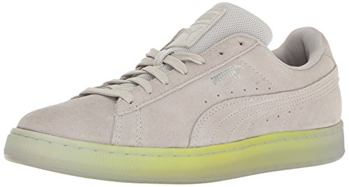 Puma Mens Suede Classic Elemental Fashion Sneaker Gray Violet-safety Yellow