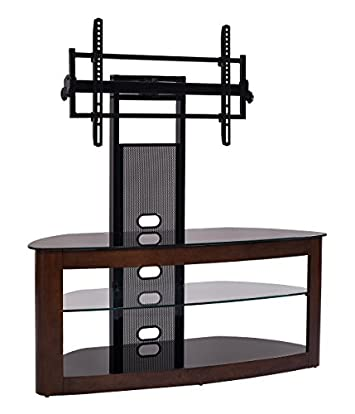 TransDeco TD600DB TV Stand with with Mount, 35 – 80 , Dark Oak Black