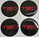 Toyota TRD 6 Cm Red Resin Sticker Decals Center Wheel Caps Cover Hub Rim