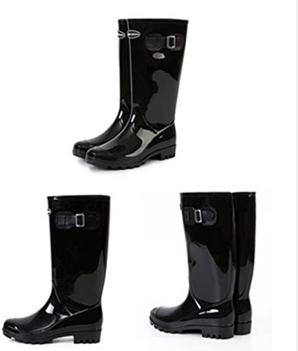 Rain Boots Women's Fashion Water Shoes, Women's Adult Boots Cute Adult high Boots Non-Slip Ladies (Color : C, Size : 39)