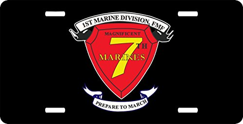 (MilitaryBest 1st Marine Division 7th Marine Regiment AKA RCT-7 License Plate)