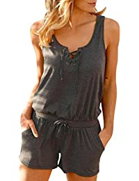 cba71308dd6 Mikey Store 2018 New Women Jumpsuits Sport Tank Top Casual Playsuit and  Pants