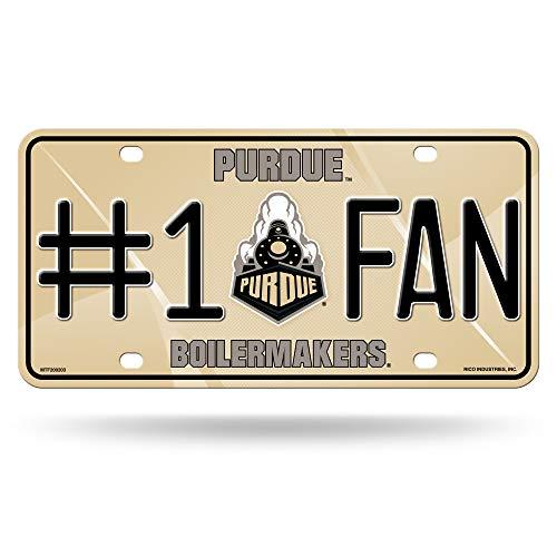 (NCAA Purdue Boilermakers #1 Fan Metal License Plate Tag)