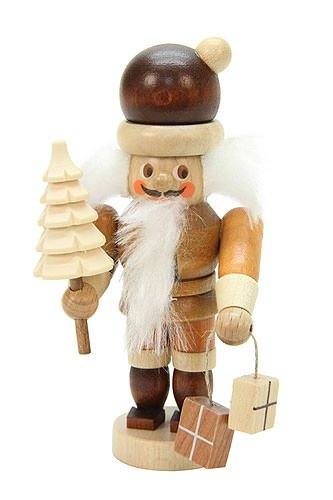 - Christian Ulbricht Natural Light Wood Mini Santa Nutcracker