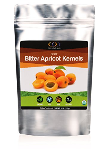Organic Apricot Seeds with Vitamin B17, Raw Bitter Apricot Kernels, Vegan, 1/2 Pound