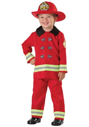 Little Boys' Fireman Costume Small (Child Fireman Costume)