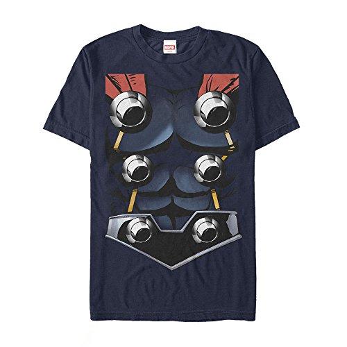 Marvel Men's Halloween Thor Costume Navy Blue T-Shirt]()