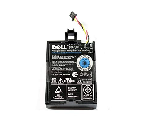 Genuine Dell Battery Type 7VJMH 1 6Wh for Dell PERC H710, H710P, and H810  RAID Controllers