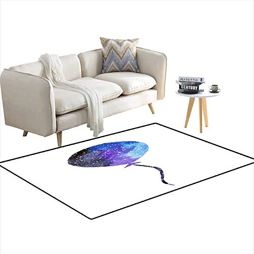 Kids Carpet Playmat Rug Watercolor Balloon in Beautiful Colors of Space 55