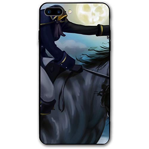Horse Halloween Headless Horseman Animated iPhone 8 Plus Case, iPhone 7 Plus Case, Ultra Thin Lightweight Cover Shell, Anti Scratch Durable, Shock Absorb Bumper Environmental Protection Case Cover ()