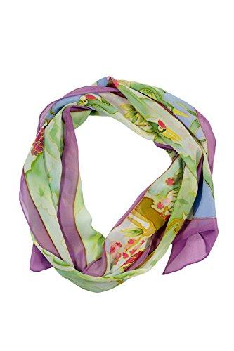 TexereSilk Women's 100% Silk Georgette Scarf (Multicolor, Unisize) Perfect Gifts for Anniversary Birthday (Mtc Multi Color)