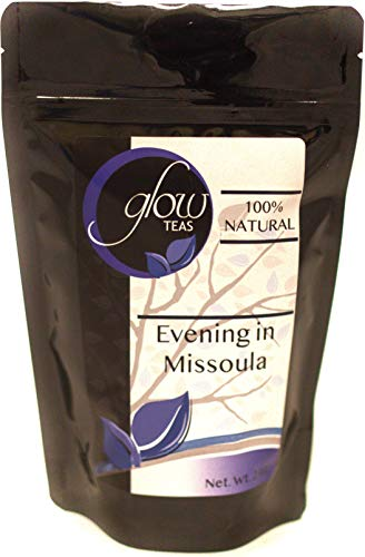 Evening In Missoula 100% Natural Calming Relaxing Herbal Tea Hot Chamomile Blend With Peppermint, Lavender and Raspberry Leaf