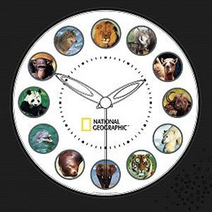 Koolatron National Geographic Animal Clock by Koolatron