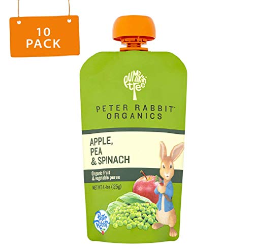 (Peter Rabbit Organics, Pea, Spinach and Apple Puree, 4.4-Ounce Pouches (Pack of 10))