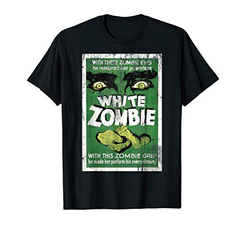 Vintage White Zombie Movie Poster T Shirt