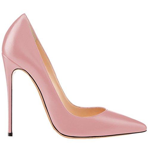 EKS - Zapatos de Tacón Mujer Pink-Lackleder