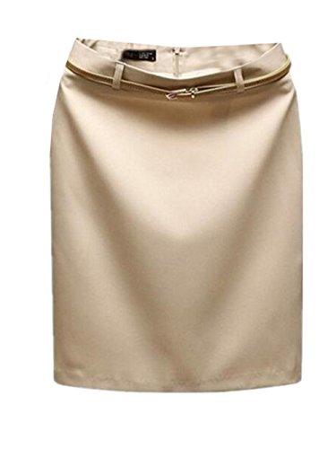 Aoliait Femme Jupe en t Slim Fit Jupe Court Commercial Femelle Jupe Taille Haute Skirt ElGant Jupe Tendance Jupe Beige