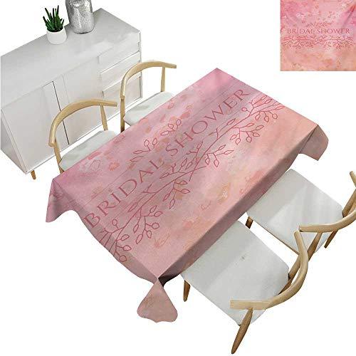 (familytaste Bridal Shower,Wedding tablecloths,Bride Invitation Grunge Abstract Backdrop Floral Design Print,Dinner Picnic Table Cloth 54