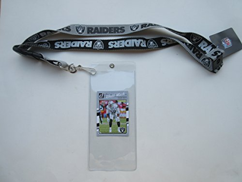OAKLAND RAIDERS TWO TONE LANYARD WITH TICKET HOLDER, used for sale  Delivered anywhere in USA
