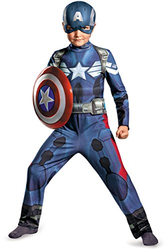 Disguise Marvel Captain America The Winter Soldier Movie 2 Captain America Classic Boys Costume, Medium (Kids Captain America Costume With Shield)