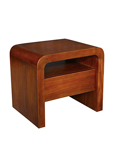 NES Furniture abc10069 Harry End Table Fine Handcrafted Solid Mahogany Wood, 24