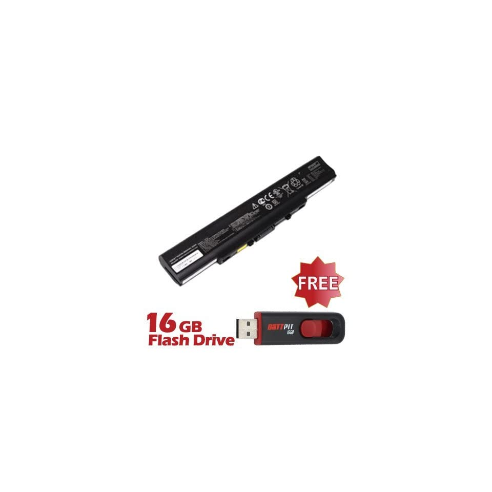 Battpit™ Laptop / Notebook Battery Replacement for Asus U31SD A1 (4400mAh / 65Wh) with FREE 16GB Battpit™ USB Flash Drive