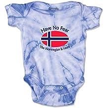 Cute Rascals Have No Norwegian is Here Norway Norwegians Baby Tie Dye Jersey Bodysuit