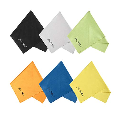 Microfiber Cloths for Electronics,Phone,Screen,Camera,Glasses, Lens,Square,Glasses,Wipes,Optical,Computer,Laptop and TV Set Cleaning (12×12inches) ()