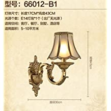 WYMBS European-style living room all copper bedroom bedside lamp base Europe living room TV wall wall light quality C