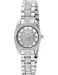 Womens Swarovski Crystal Quartz Stainless Steel Casual Watch, Color:Silver-Toned