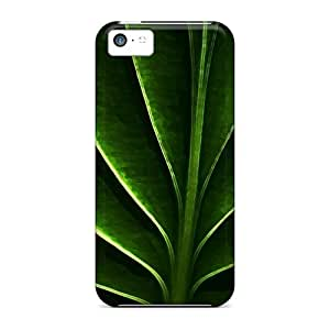 NikRun Snap On Hard Case Cover Neon Leaf Protector For Iphone 5c