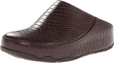 FitFlop Women's Gogh Moc Snake Moc,Brown,5 M US
