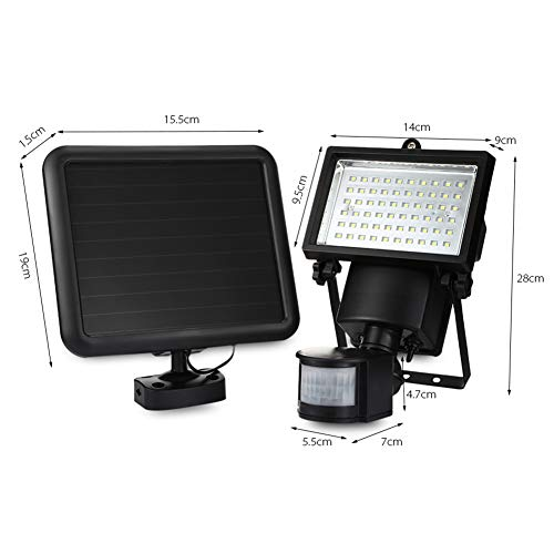 Amazon.com: 60 LED Camping Light Super Bright Waterproof Solar Powered PIR Motion Detector Door Wall Lamp Security Outdoor Lighting: Home & Kitchen