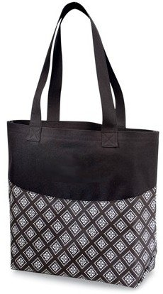 Amazon.com: Stylish Sturdy Tote Bag (Black Print Accent): Baby
