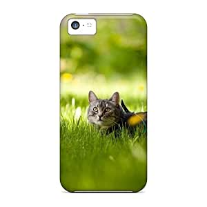 New Arrival Premium 5c Case Cover For Iphone (sweet Cat In Gras)