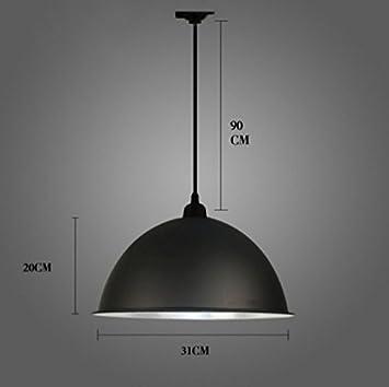 Artes claras Personalidad simple estilo industrial abanico de hierro (negro clásico) (Tamaño : Diameter:31cm) : Amazon.es: Hogar
